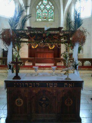 'Loofhut' in de kerk